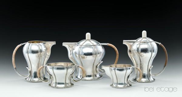 Otto_Prutscher_Eduard_Friedmann_Wien_1900_silver_coffee_Set_bel_etage