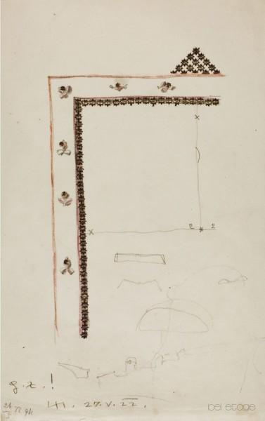 Dagobert_Pecher_Entwurf_Zeichnung_Rahmen_bel_etage