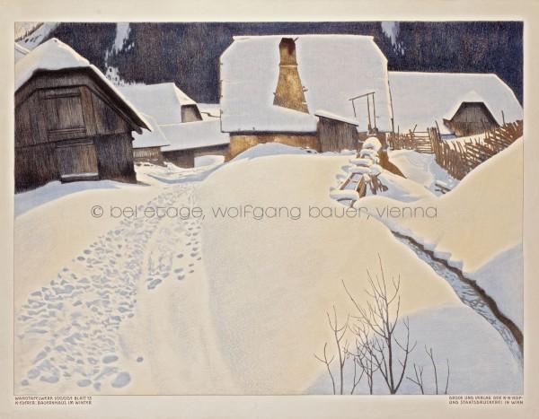 43.2. K. Ederer Bauernhaus im Winter_HP