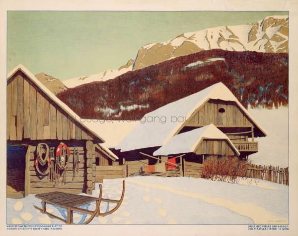 43.1. O. Barth Steirisches Bauernhaus im Winter_HP
