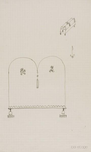 Dagobert_Peche_Entwurf_Zeichnung_Schatulle_bel_etage
