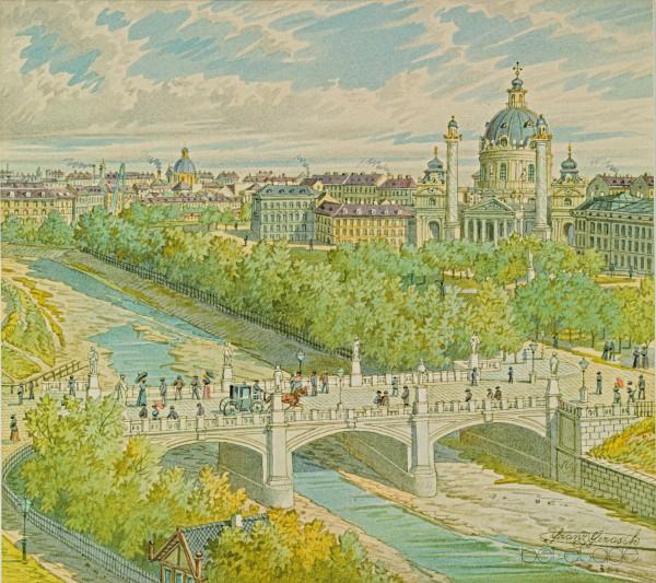 38_Gerasch_Blick über Wienfluss auf Karlskirche